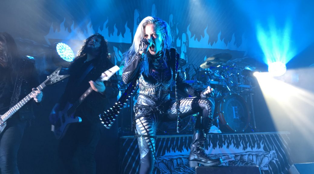 Alissa White-Gluz with Arch Enemy