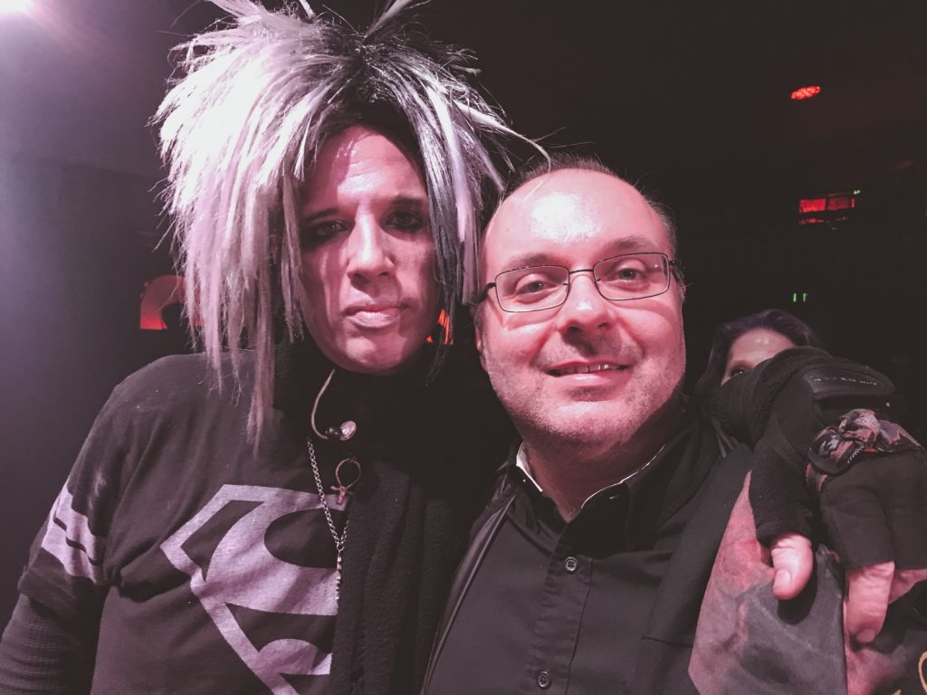 with Rogue from the Crüxshadows
